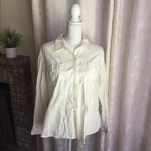 Women's Tommy Hilfiger Off White Button Down